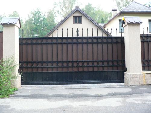Откатные ворота в киевской области ворота раздвижные фото киров